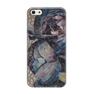 Чехол для iPhone 5/5s Мозаика Пионы