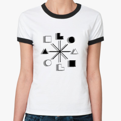 Женская футболка Ringer-T   Есенин, ИЭИ