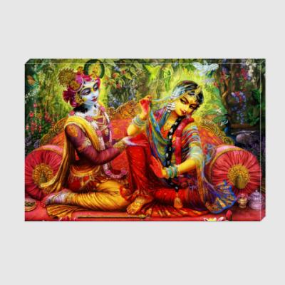 Холст Радха и Кришна