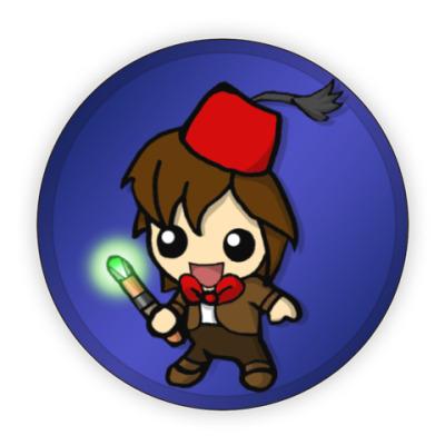Костер (подставка под кружку) Cartoon Eleventh Doctor In A Fez