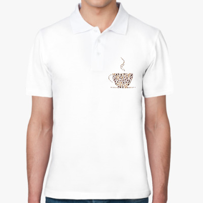 Рубашка поло Кофе из кофейных зерен
