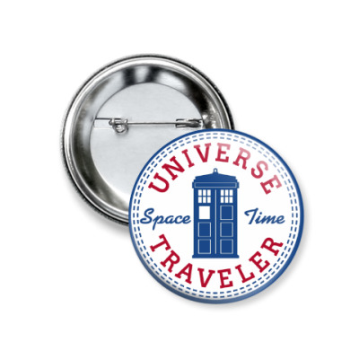 Значок 37мм Universe Traveler - Doctor Who