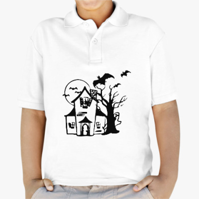 Детская рубашка поло Хеллоуин