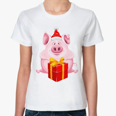 Классическая футболка Год свиньи