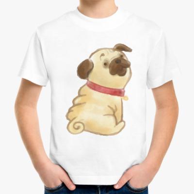 Детская футболка Мопс Pug