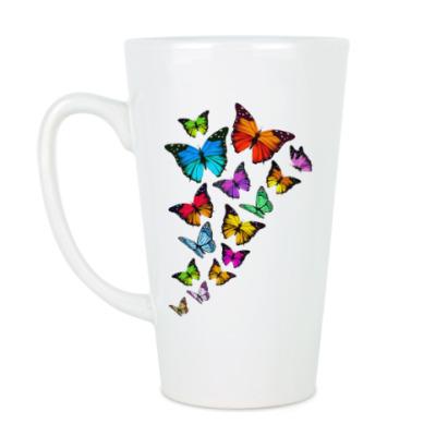 Чашка Латте Бабочки