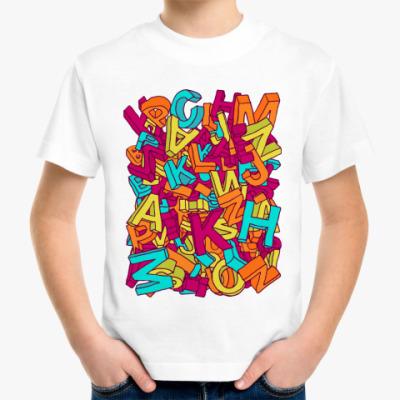 Детская футболка Алфавит