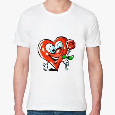 Футболка из органик-хлопка Сердце