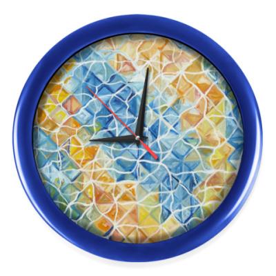 Настенные часы Рыбы сквозь блики