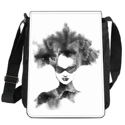 Сумка-планшет девушка граффити трафарет