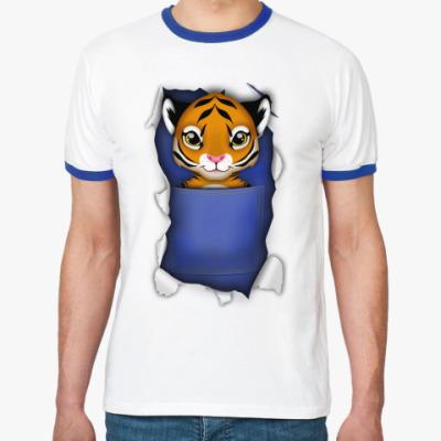 Футболка Ringer-T 'Тигр'