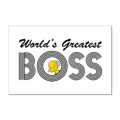 Наклейка (стикер) Лучший в мире босс