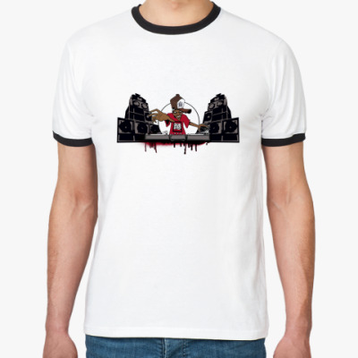 Футболка Ringer-T Дабстеп(dubstep)