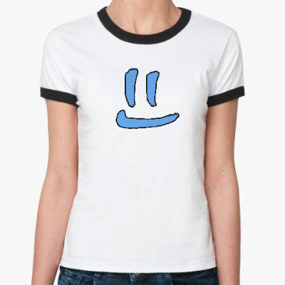 Женская футболка Ringer-T Чистая улыбка