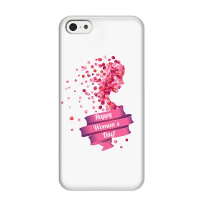 Чехол для iPhone 5/5s Силуэт женщины из лепестков роз