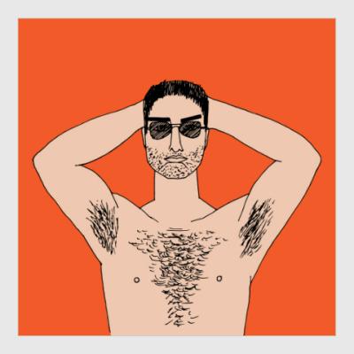 Постер Мужчина с голым торсом