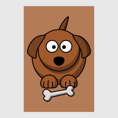 Постер Собачка с косточкой