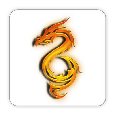 Костер (подставка под кружку) Огненный дракон