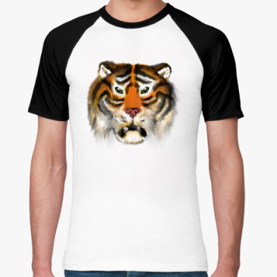Футболка реглан Огненный тигр