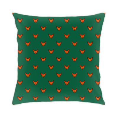 Подушка Пиксель арт: лиса