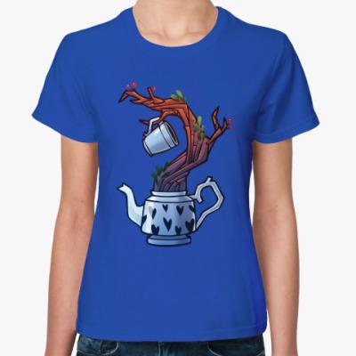 Женская футболка Чайное дерево