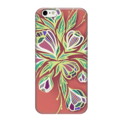 Чехол для iPhone 6/6s Glowing flowers