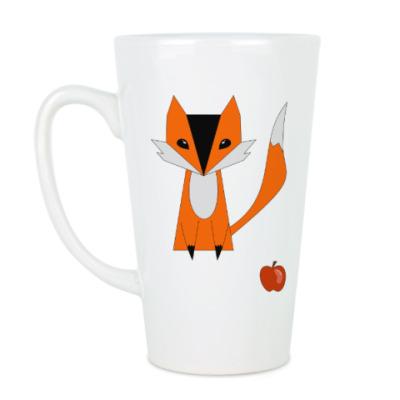 Чашка Латте лисица