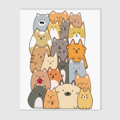 Холст Смешные коты (funny cats)