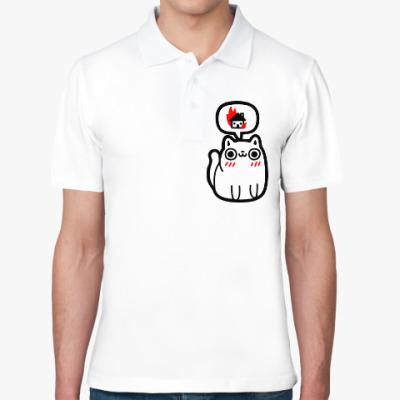 Рубашка поло Котик злой