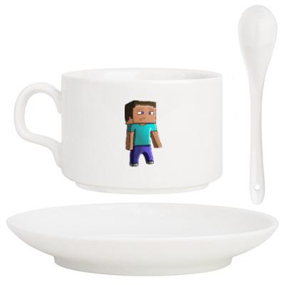 Кофейный набор Minecraft Steve