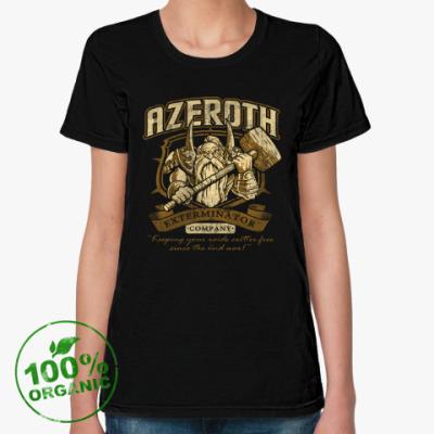 Женская футболка из органик-хлопка World of Warcraft. Азерот