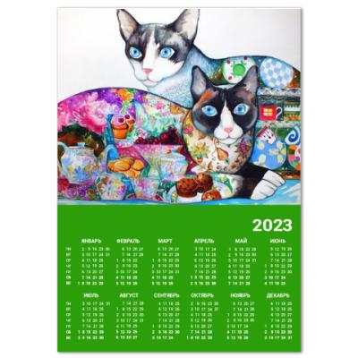 Календарь Чайные коты