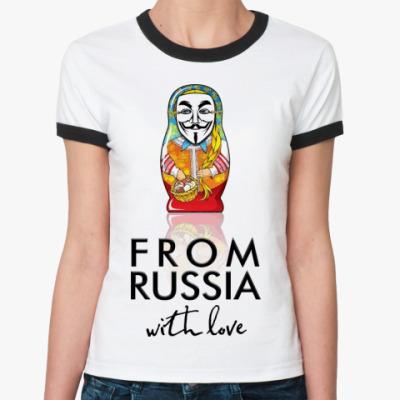 Женская футболка Ringer-T Матрешка