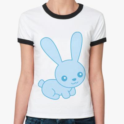 Женская футболка Ringer-T Зайка