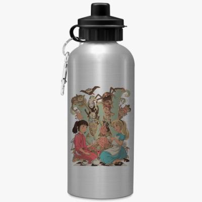 Спортивная бутылка/фляжка Wonderland Alice and Chihiro