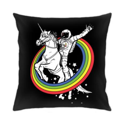 Подушка Космонавт на единороге