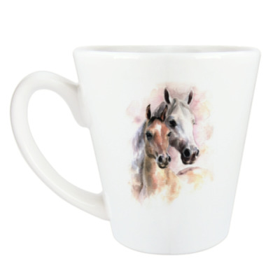 Чашка Латте Лошади
