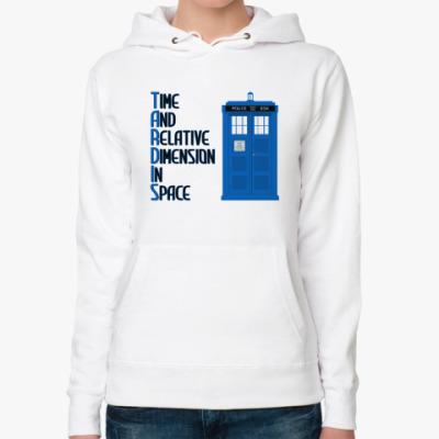 Женская толстовка худи TARDIS Doctor Who