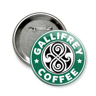 Значок 58мм Gallifrey Coffe