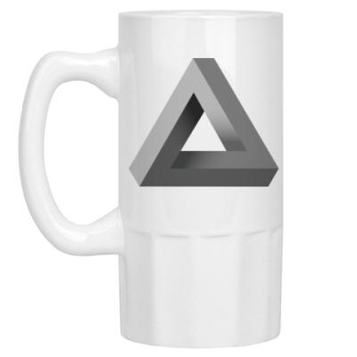 Пивная кружка Невозможный Треугольник 3D