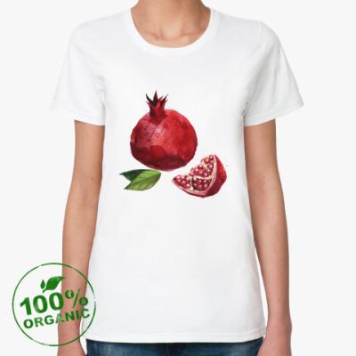 Женская футболка из органик-хлопка Гранат