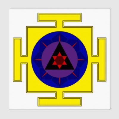 Холст  Махаганапати-янтра для медитаций