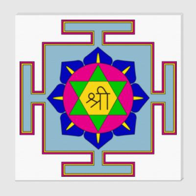 Холст Лакшми-янтра для медитаций