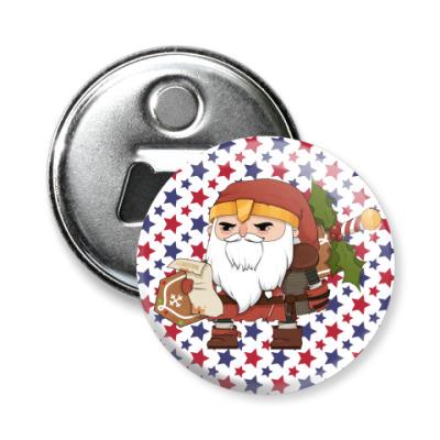 Магнит-открывашка Brutal Santa