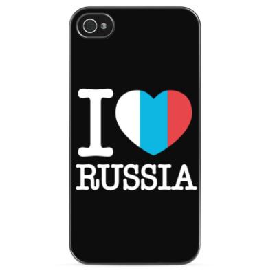 Чехол для iPhone I love Russia