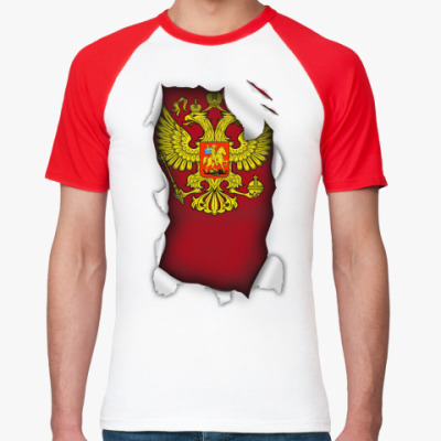 Футболка реглан 'Герб России'