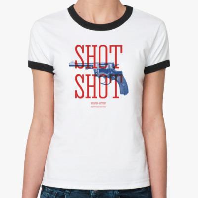 Женская футболка Ringer-T Оружие СССР