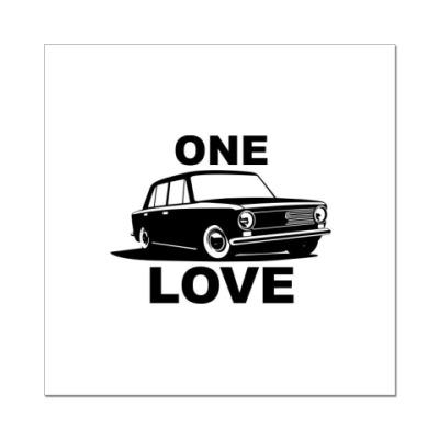 Наклейка (стикер) 2101 one love