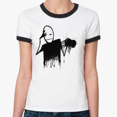 Женская футболка Ringer-T Mr. Freeman 6
