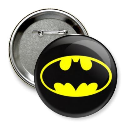 Значок 75мм  75 мм bat_logo